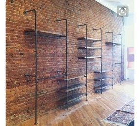 Rustic wall mounted shelves