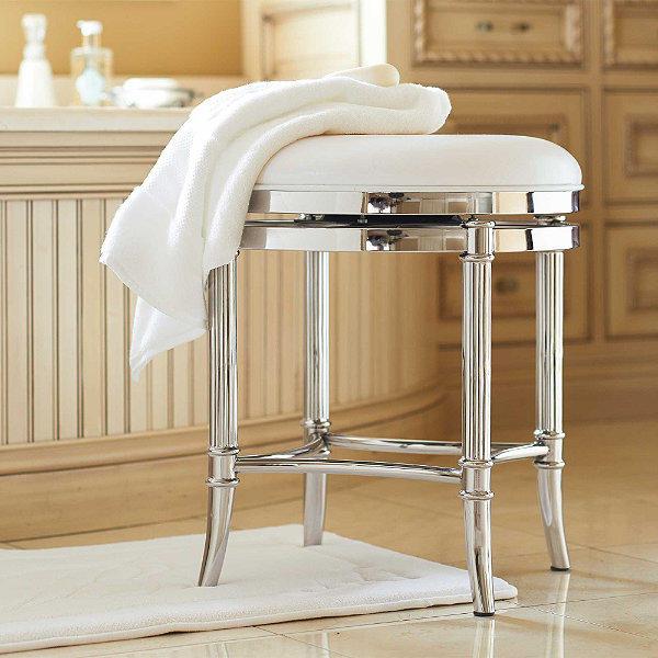 Unique Bathroom Vanity Stool Ideas