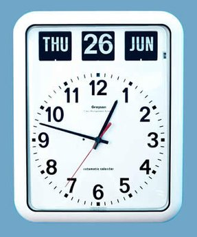 Day Date Wall Clock Foter