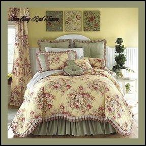 imperial queen quilt porcelain cotton shams piece dress waverly set dp quilts full reversible