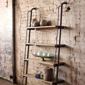 Wood wall mounted shelving 6