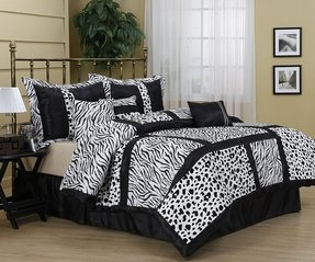 Zebra and pink bedding