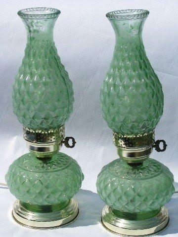 Antique Hurricane Lamps 2
