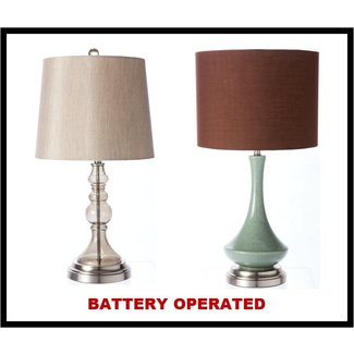 Battery operated lamps