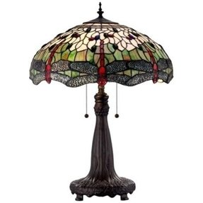 Blue tiffany table lamp