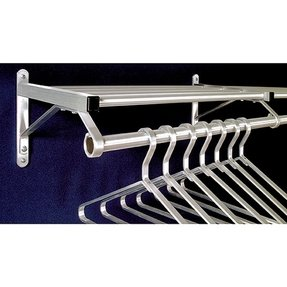 Coat shelf rack