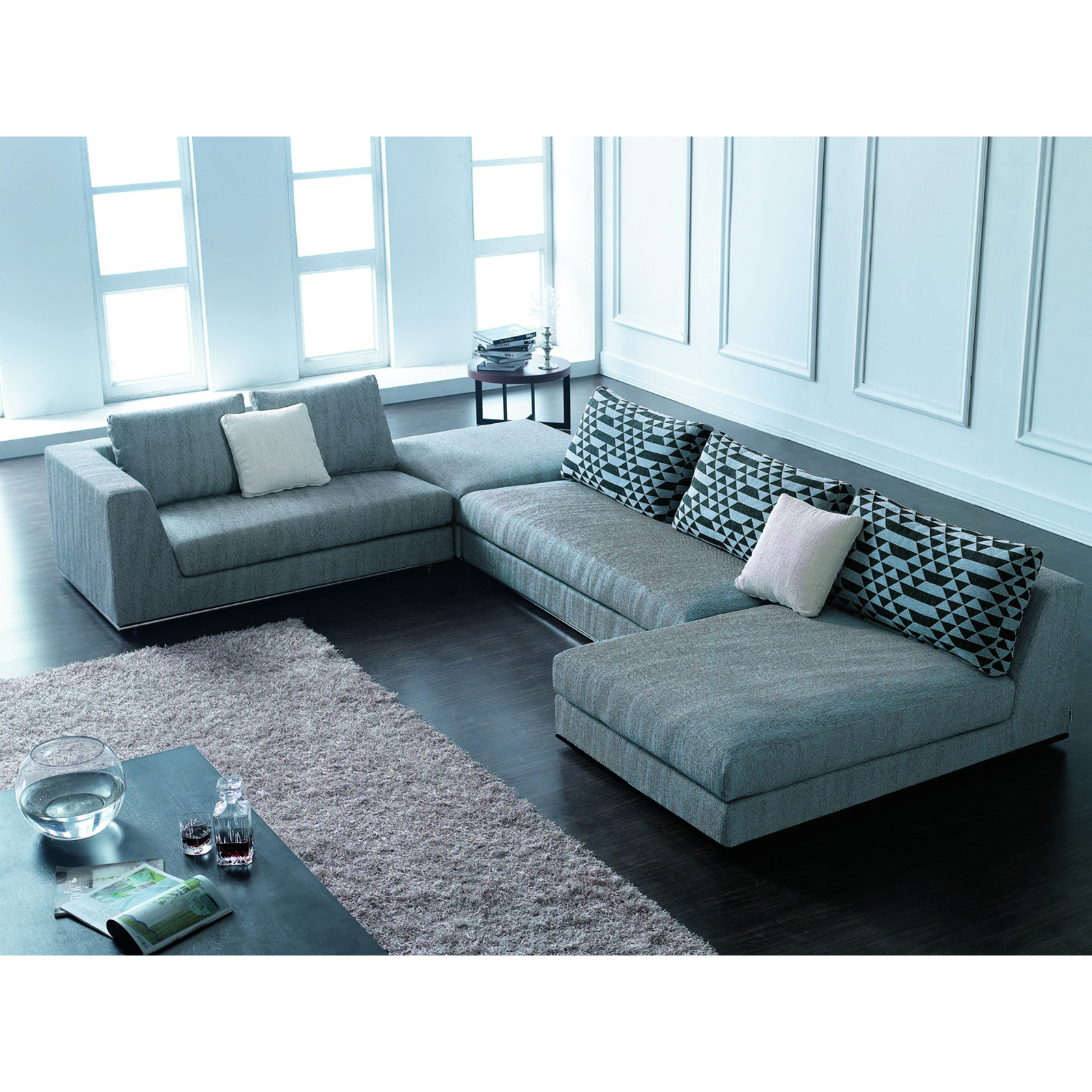 Superb Contemporary Microfiber Sectional Sofa 2