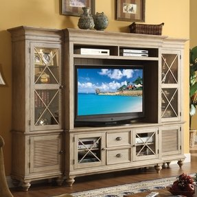 Cottage style entertainment center 4