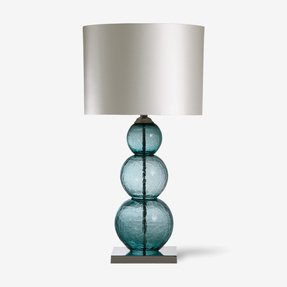 Crackle glass table lamp 4