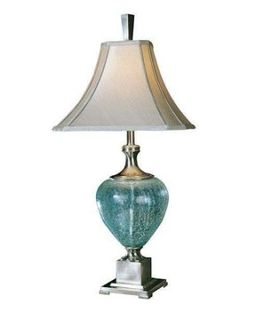 Crackle glass table lamp foter crackle glass table lamp 7 aloadofball Images