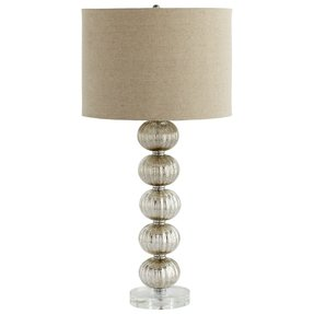 Crackle glass table lamp 9