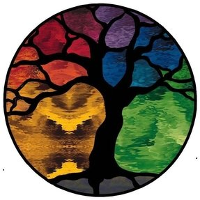 Custom Stained Glass Tree Windows Mosaics