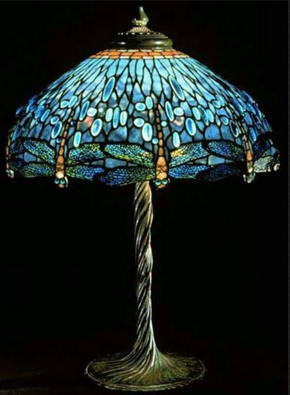 Tiffany Lamp Stained Gl Table
