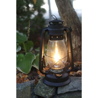 Electric hurricane lantern lamp flat