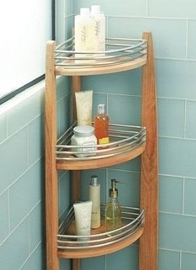 Teak Corner Shower Caddy Foter