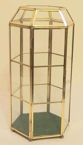 Glass curio display cabinet 22