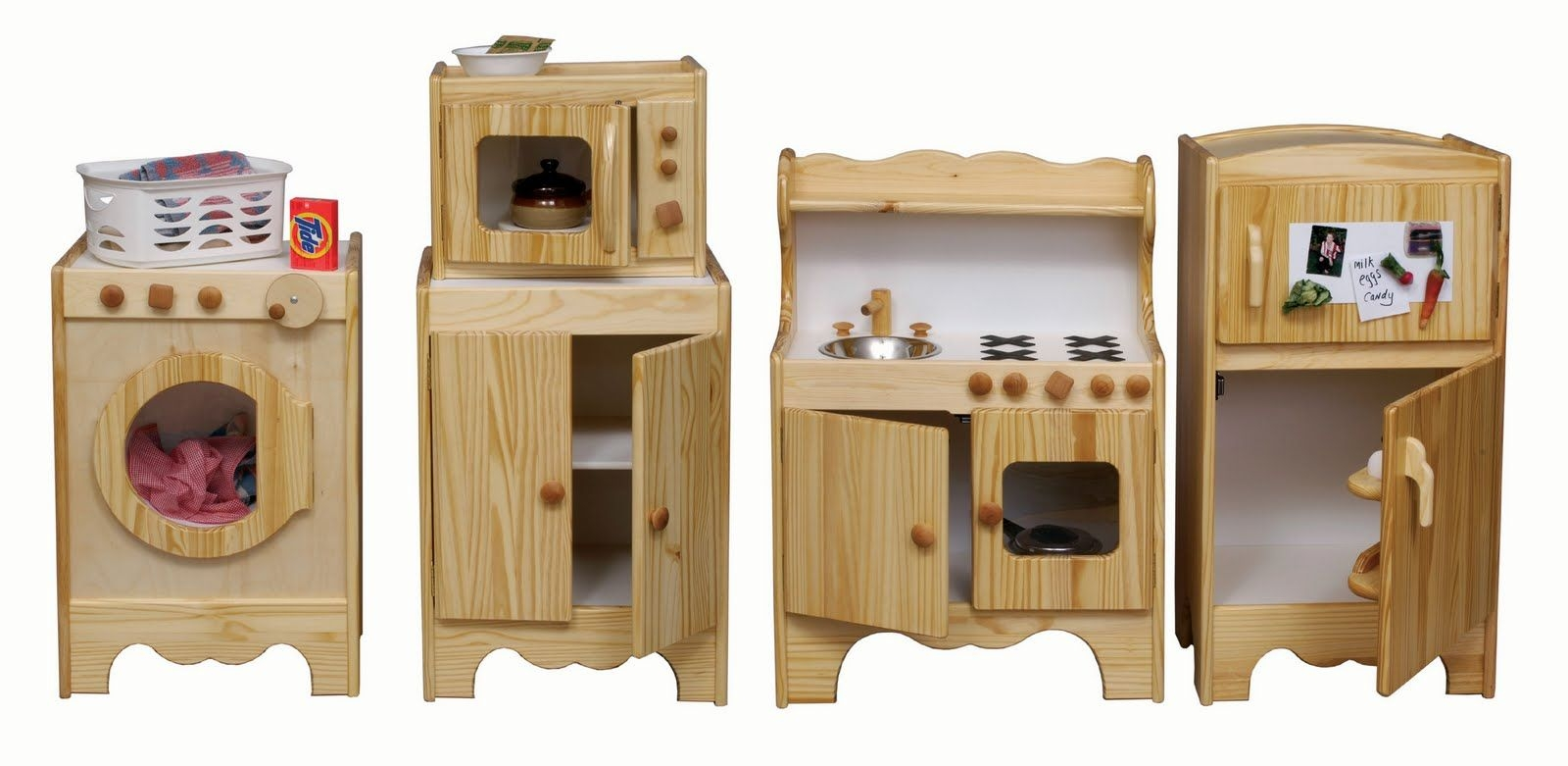 Superbe Amazing Handmade Wooden Play Kitchen