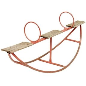 Metal teeter totter