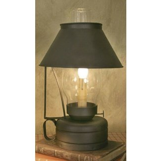 New primitive rustic brown barn livery lantern with shade electric
