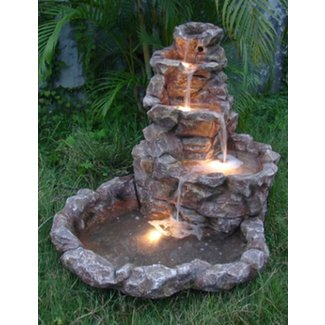Outdoor corner fountains