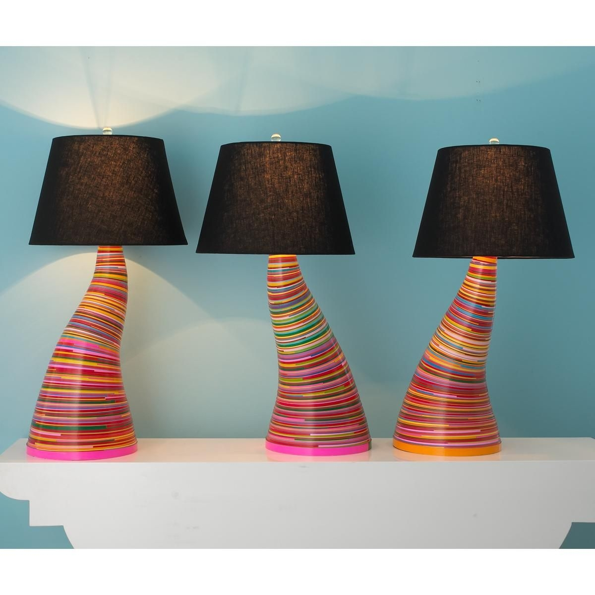 Paper Coil Table Lamp I Bet I Could Make This