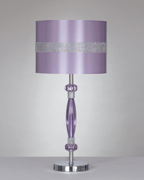 Purple lamp shades foter add a bling factor to your boudoir what a lamp sheen purple shade echoes the color of violet crystals that embellish the metal base aloadofball Image collections