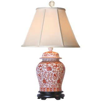 Porcelain ginger jar table lamp 2