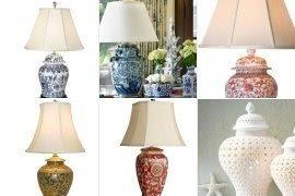 Porcelain Ginger Jar Table Lamp