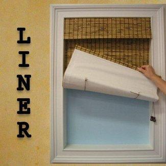 blackout liner for bamboo shades foter. Black Bedroom Furniture Sets. Home Design Ideas