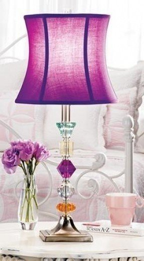 Purple lampshade