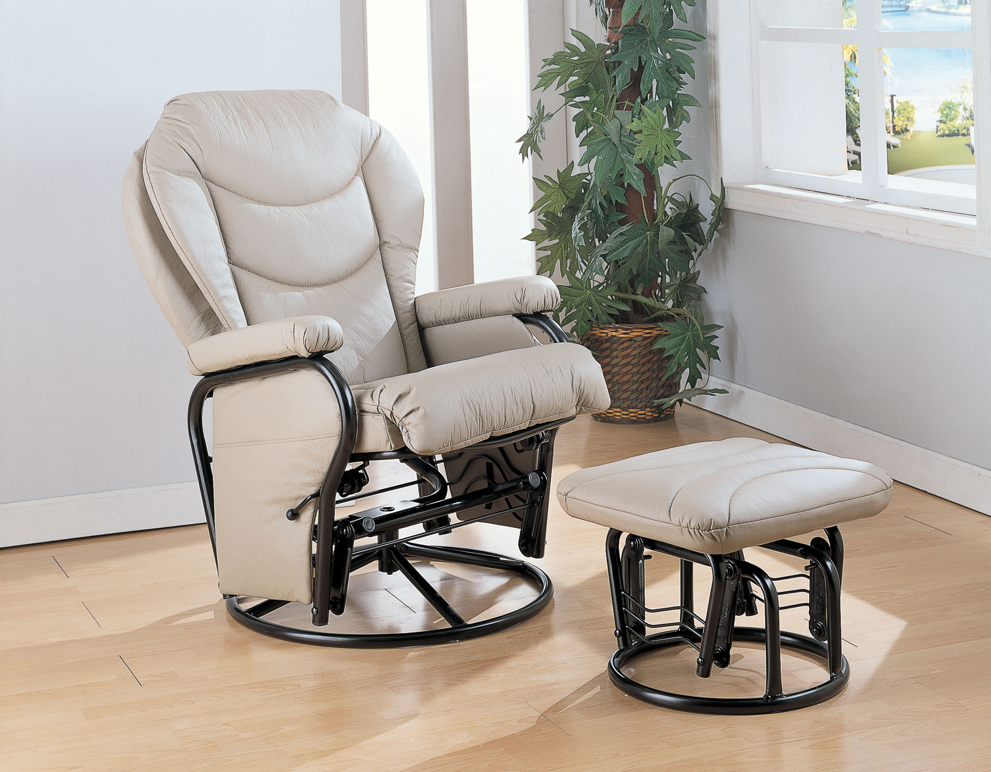 Rocker glider recliner with ottoman  sc 1 st  Foter : rocker and glider chairs - Cheerinfomania.Com