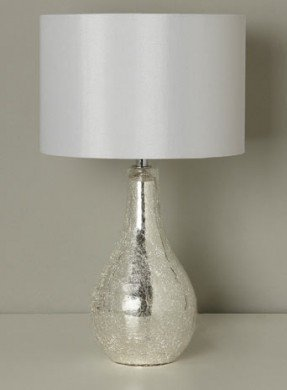 Crackle glass table lamp foter sabrina small mirrored crackle table lamp mozeypictures Images