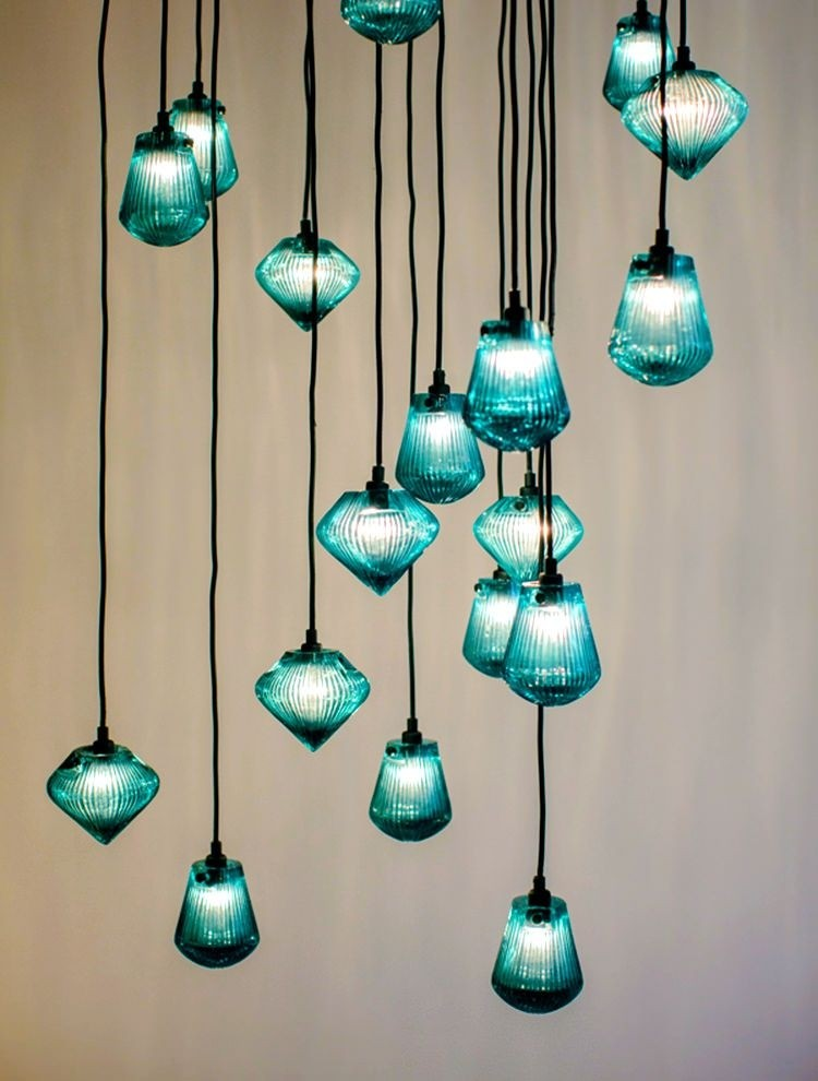 Nice Sea Glass Pendant Lights Idea