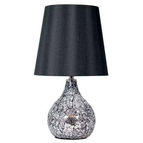Superbe Silver Crackle Lamp