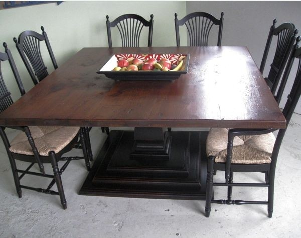 Square Marble Dining Table For 8
