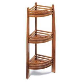 Teak Corner Shower Caddy - Foter