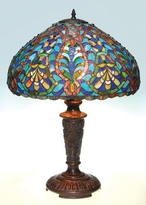 Tiffany Peacock Feather Table Lamp Foter