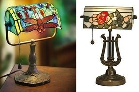 Tiffany Style Bankers Lamp Foter