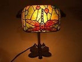 Tiffany style bankers lamp 8