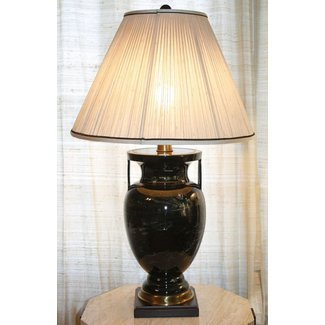 Vintage frederick cooper table lamp swirl pattern urn porcelain brass