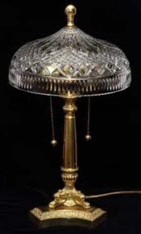 Waterford crystal crystal table lamp 2