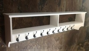 Wide coat rack shelf wall mount painted