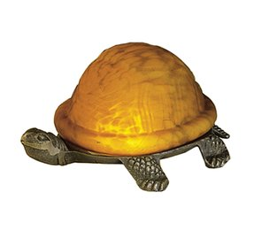 Amber Turtle Accent Lamp