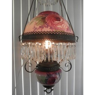 Antique hanging oil lamps
