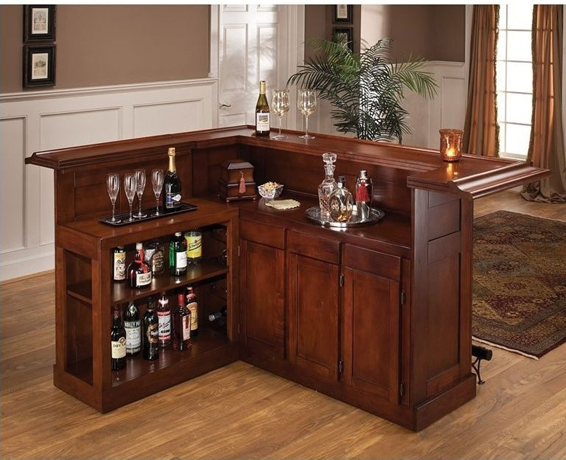 Bar Cabinet In Living Room Corner Mini Bar Design In