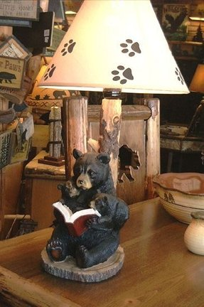 Black bear lamp 2