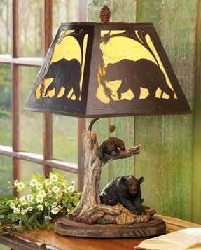 Black bear lamp 8