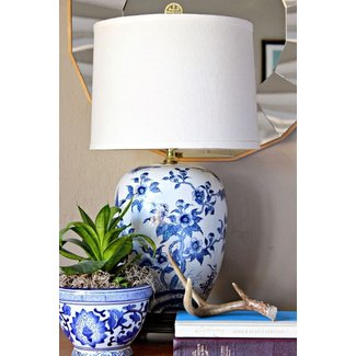 Blue and white porcelain table lamps 1
