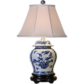 Blue and white porcelain table lamps 2
