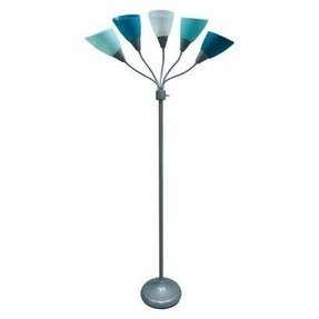 Blue floor lamp foter blue floor lamp 1 aloadofball Choice Image